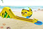沙滩长颈鹿充气大滑梯