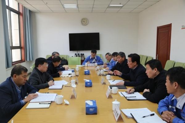 集团公司副总经理龙兴元一行莅临公司调研指导工作