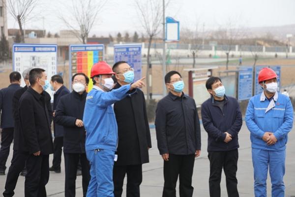 榆林市委副书记、市长李春临一行来神木电石调研督导企业复工复产和疫情防控工作