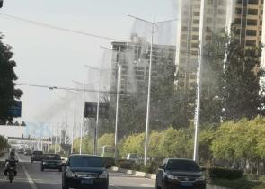 路灯杆喷雾降尘
