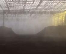 滨州炼油厂堆煤车间干雾抑尘