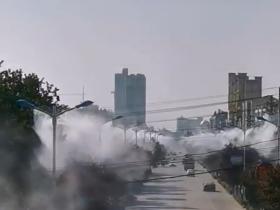 安徽蚌埠古镇县路灯杆喷雾降尘