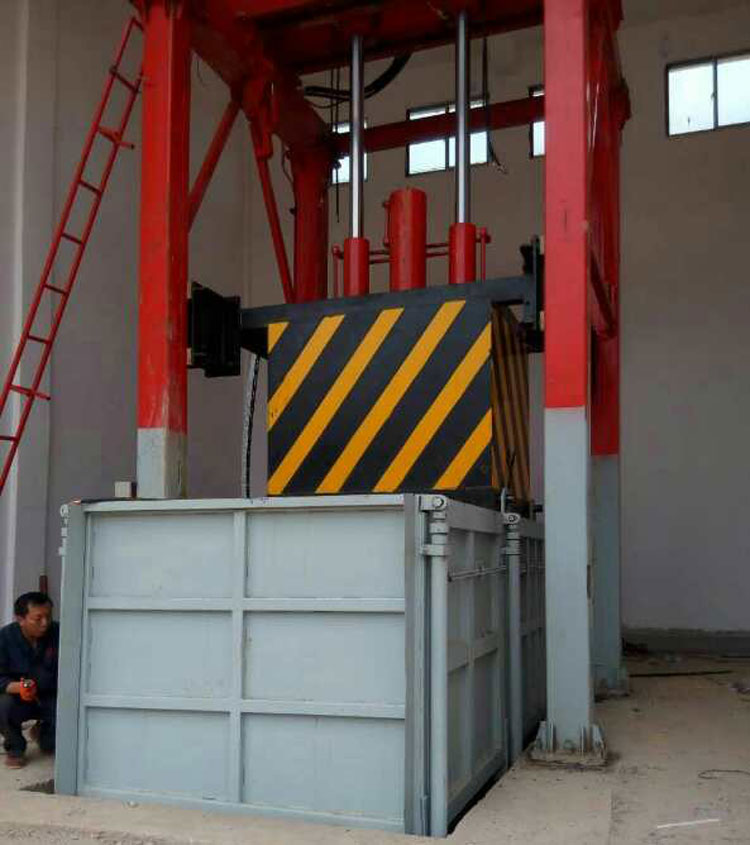 贵州长顺县环保局项目-垂直式垃圾压缩中转站