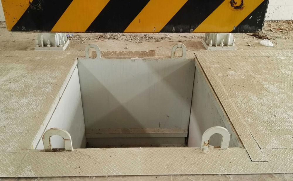 落地式垃圾中转压缩机整体落于地下