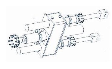 三支接力油缸