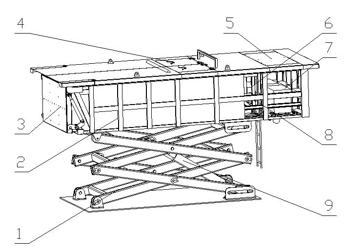 水平式888sl中转设备结构图