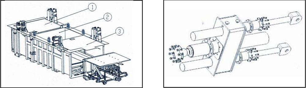 立式垃圾中转压缩设备结构