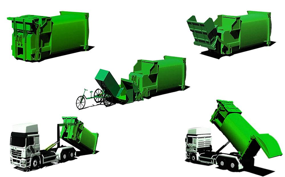 移动式垃圾中转设备产品示意图