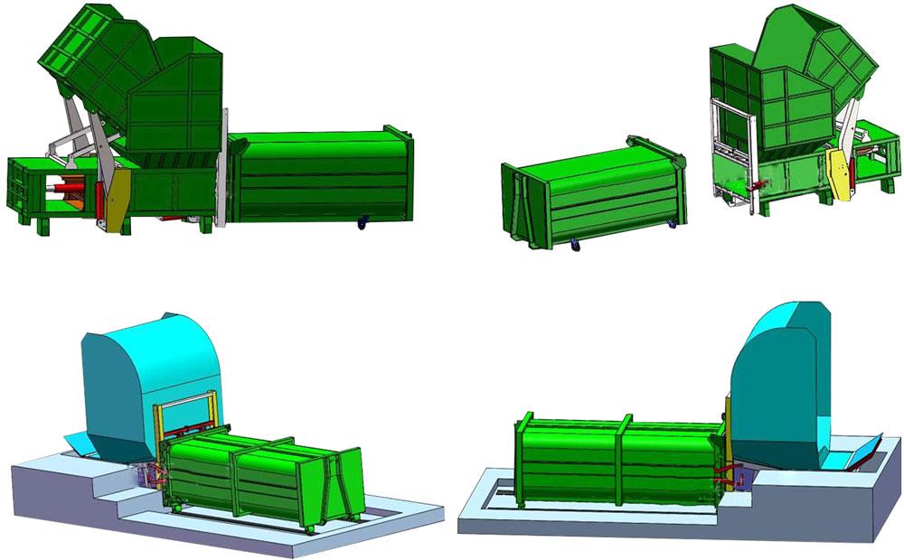 分体式垃圾压缩设备示意图