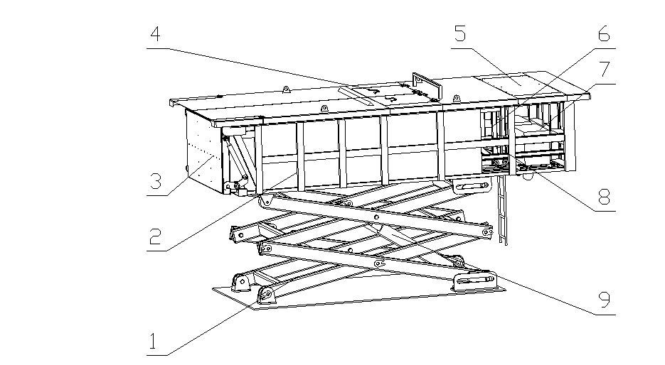 地埋式垃圾压缩机结构