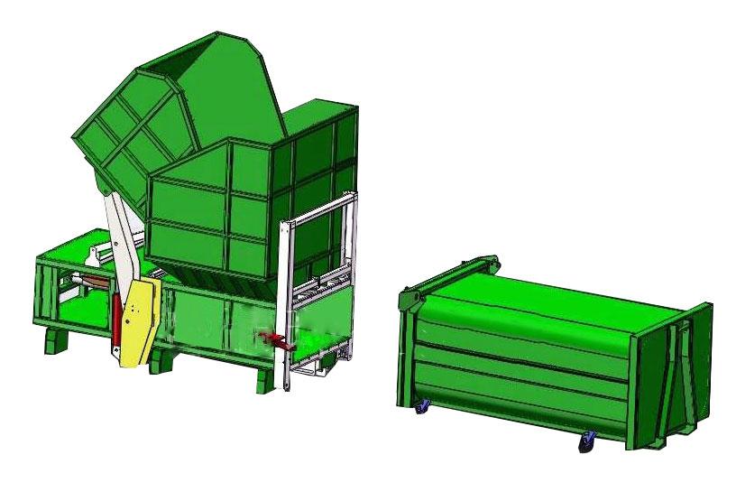 分体式垃圾压缩设备的压缩机由压缩机体、压缩推头等组成
