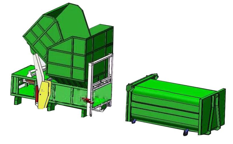 垃圾压缩设备分体机(一机两箱)