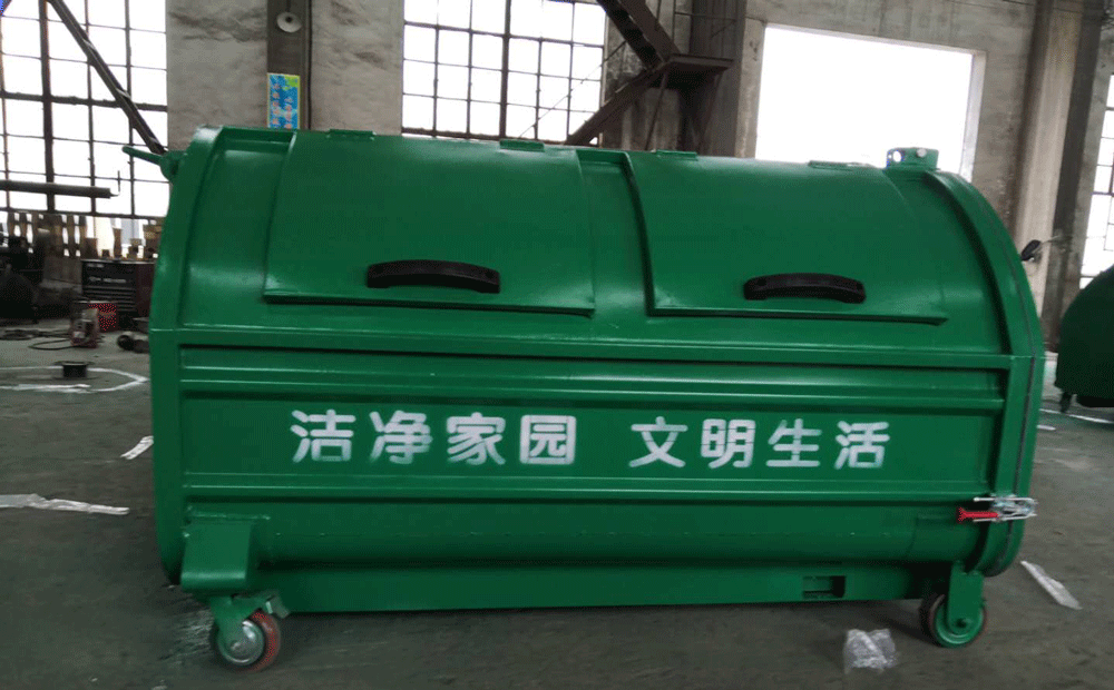 3立方米容积碳钢板垃圾箱