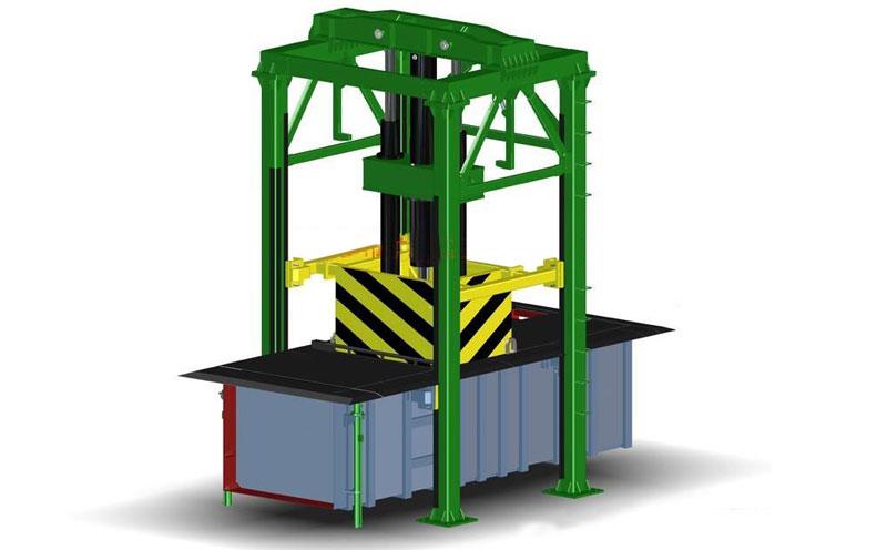 处理量100吨垃圾压缩机中转站设备