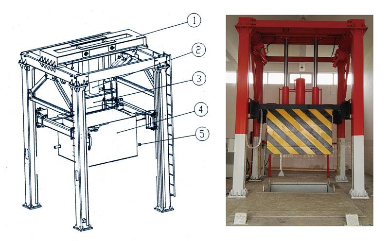 垂直式垃圾压缩机主体架