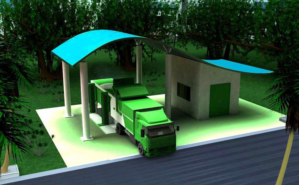 乡村垃圾收集站提高农村生态环境