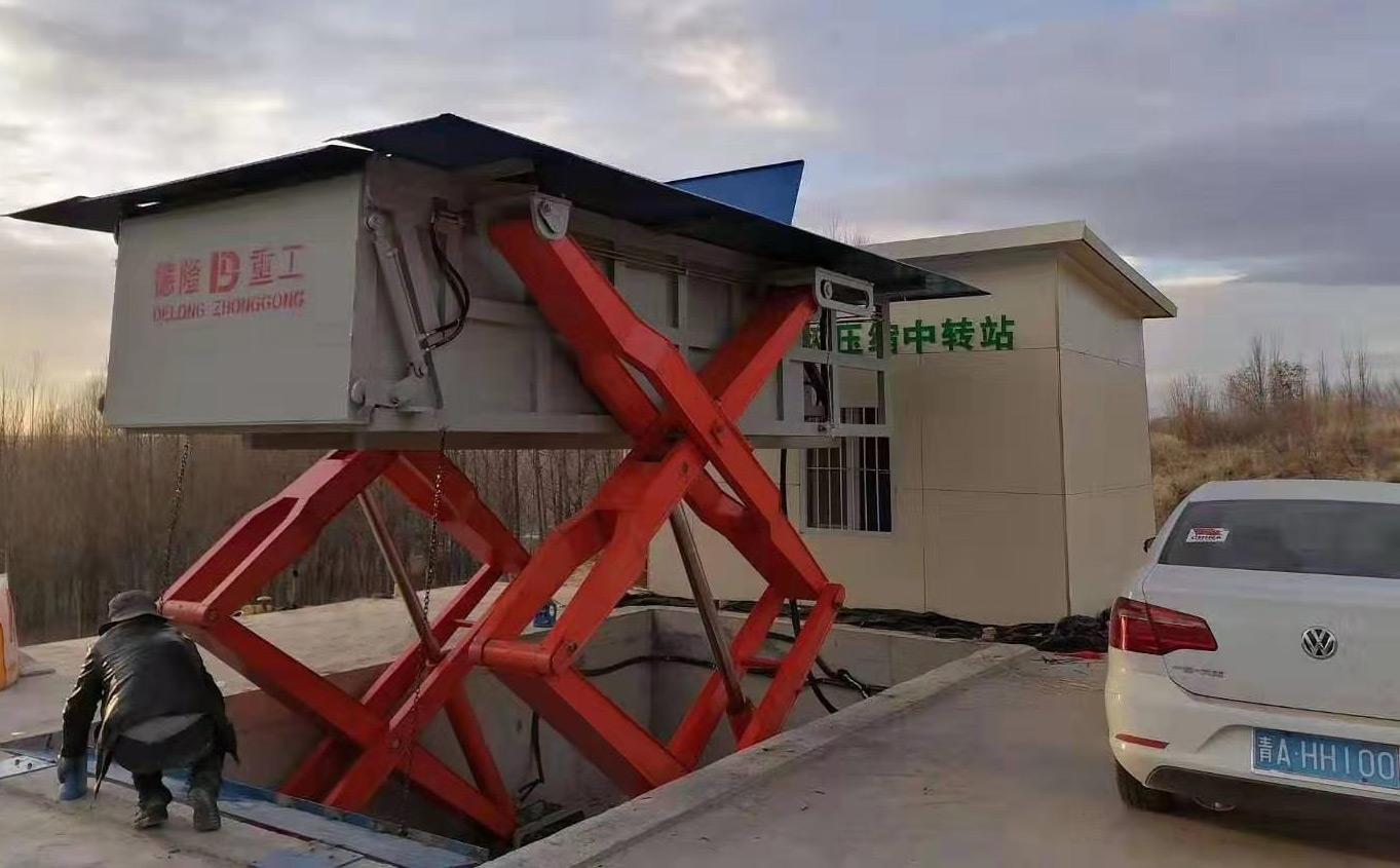 青海地埋式垃圾站现场