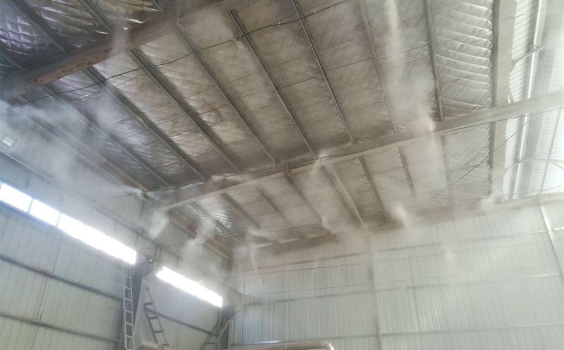 喷淋除臭降尘系统安装在贵州兴义市贞丰县现场