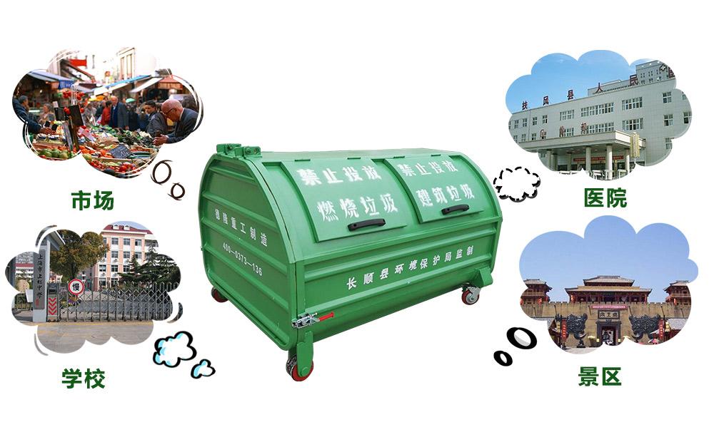 7.5立方移动式垃圾箱应用范围