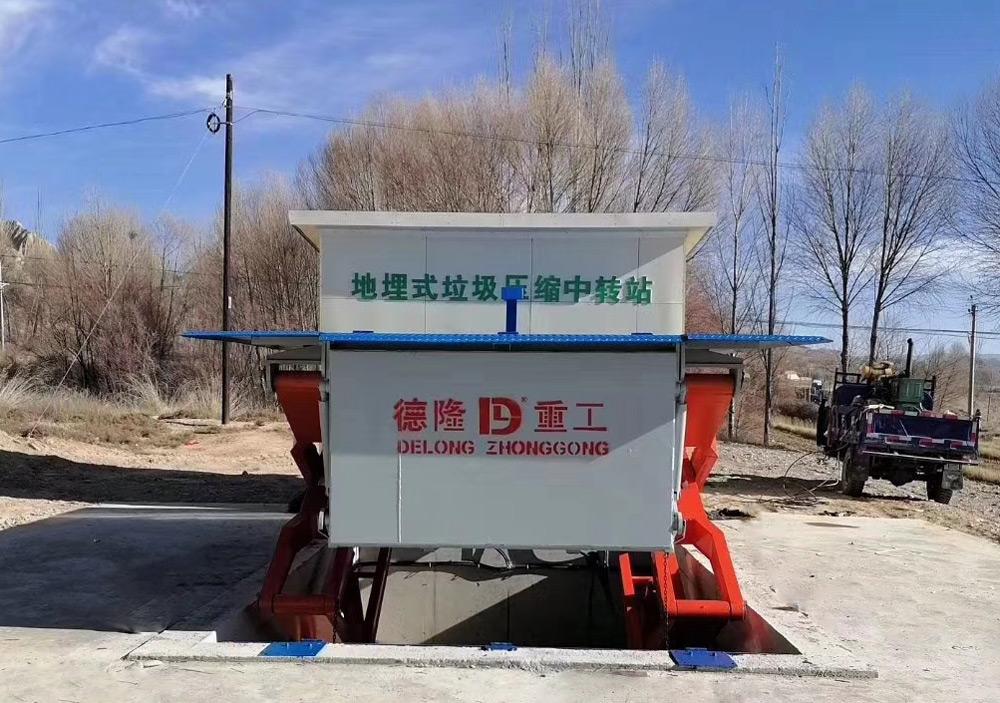 水平式垃圾压缩设备