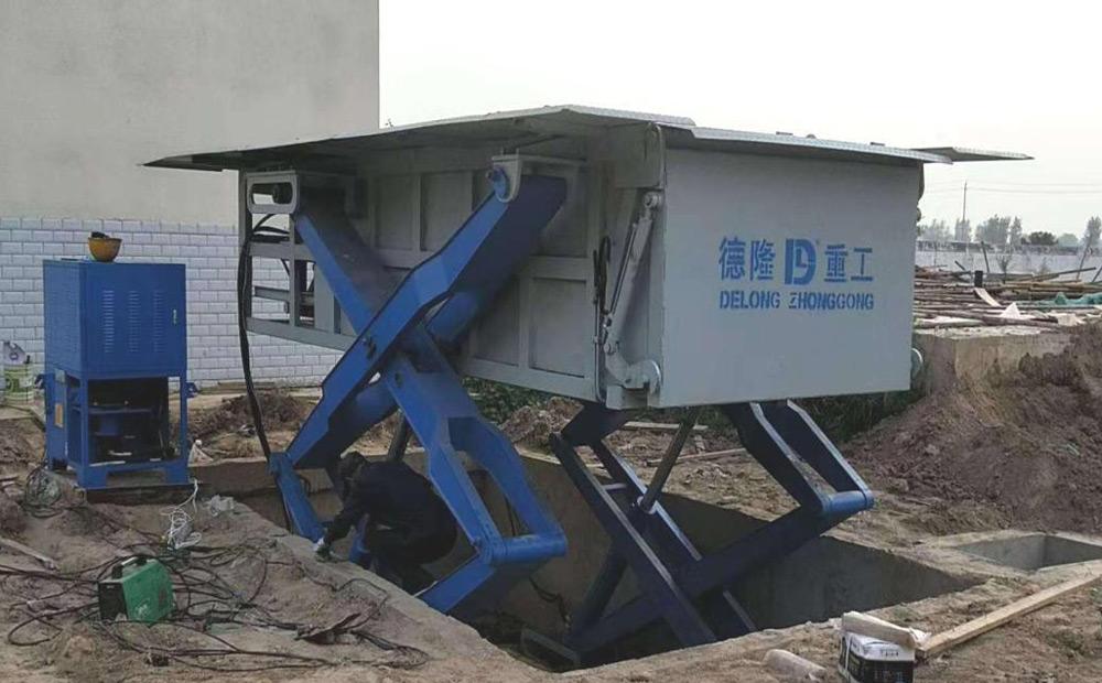 建设农村垃圾压缩中转站