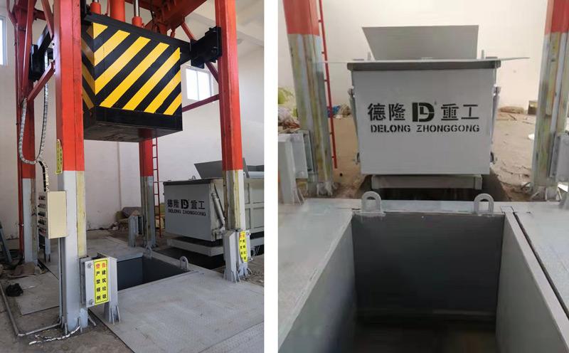 一个垂直式垃圾压缩机配两个箱体