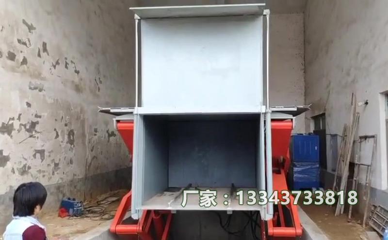 江西南昌县的乡镇地埋垃圾压缩站现场