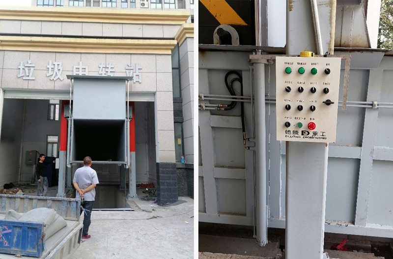 垂直式垃圾压缩站在江西九江现场