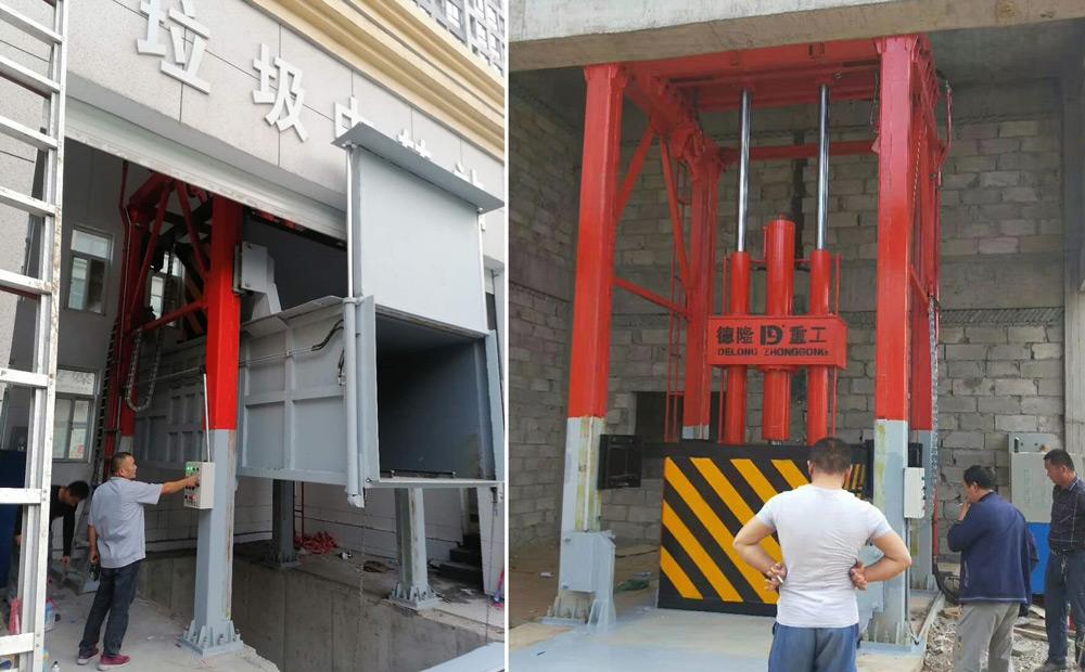 垂直式垃圾压缩站在各地区现场图片