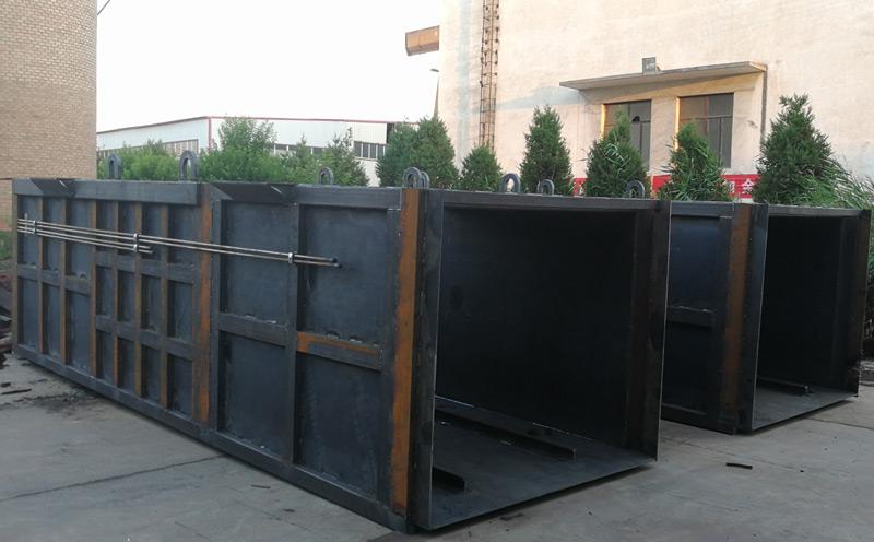 垂直式垃圾压缩设备压缩箱体