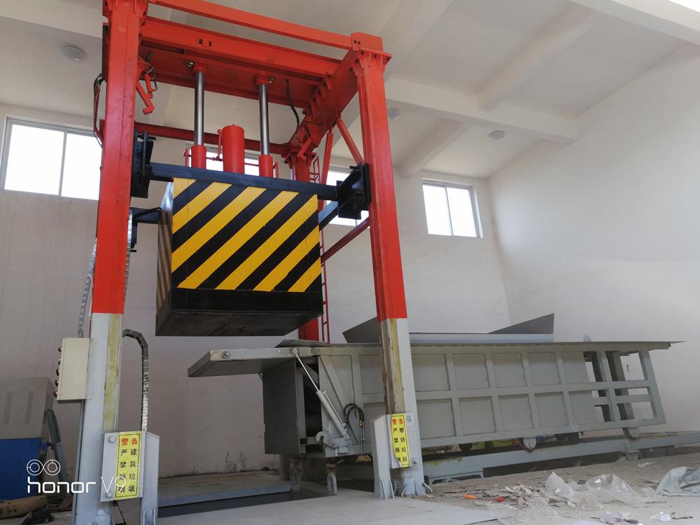 带副箱的垂直式垃圾压缩中转站