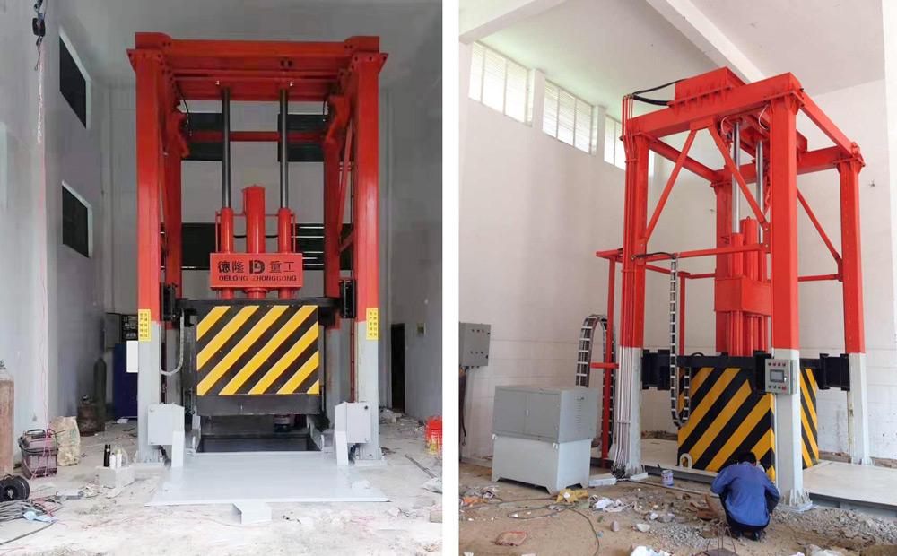 垂直垃圾压缩机