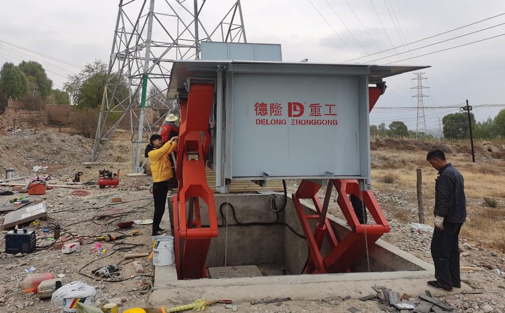 10立方地埋式垃圾站安装现场