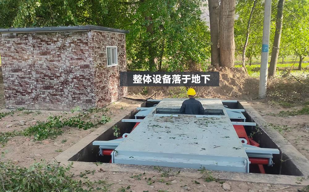 地埋式垃圾站整体落于地下