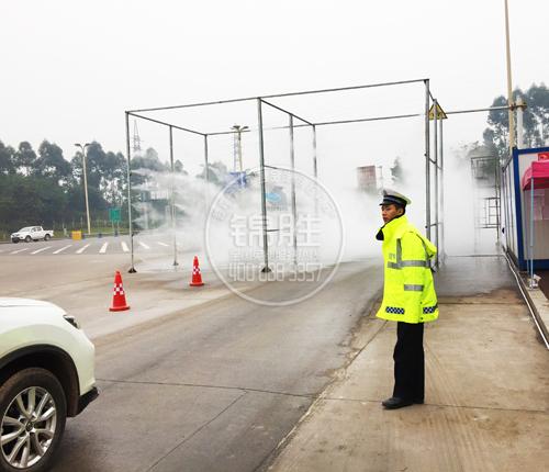 喷雾消毒通道