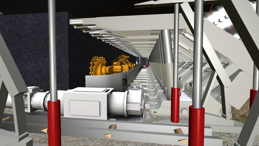 VR矿井生产监测