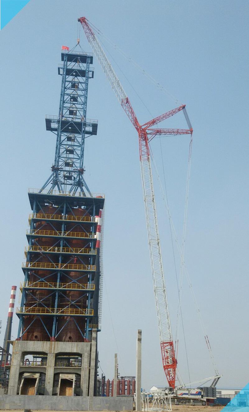 【QUY350噸】東營煉油廠焦炭塔安裝