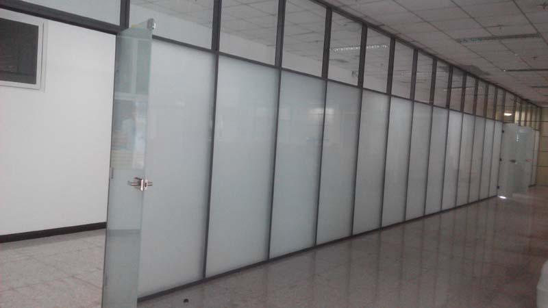 泰安磨砂玻璃隔断