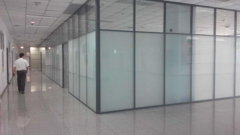 济南双层玻璃隔断,济南磨砂玻璃隔断