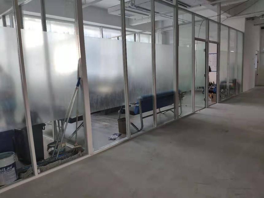 玻璃隔断,单层玻璃隔断