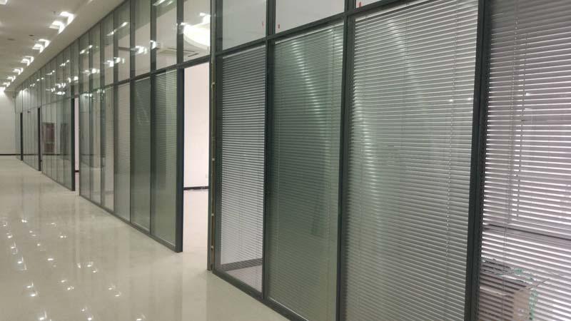 济南玻璃隔断,双玻百叶玻璃隔断