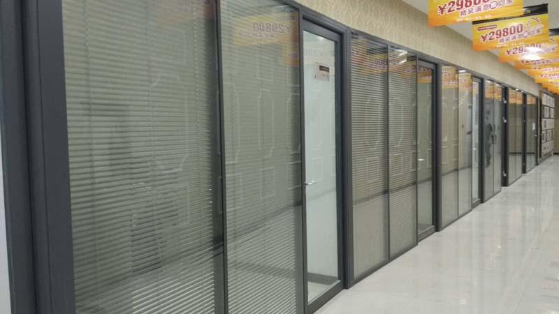 办公室双玻百叶玻璃隔断