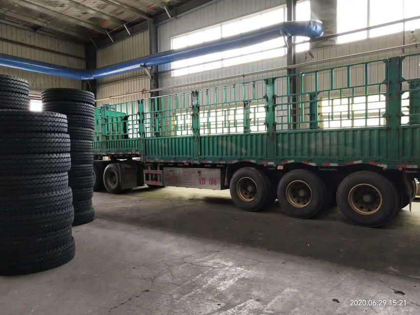 Huaan tires are loaded for domestic market