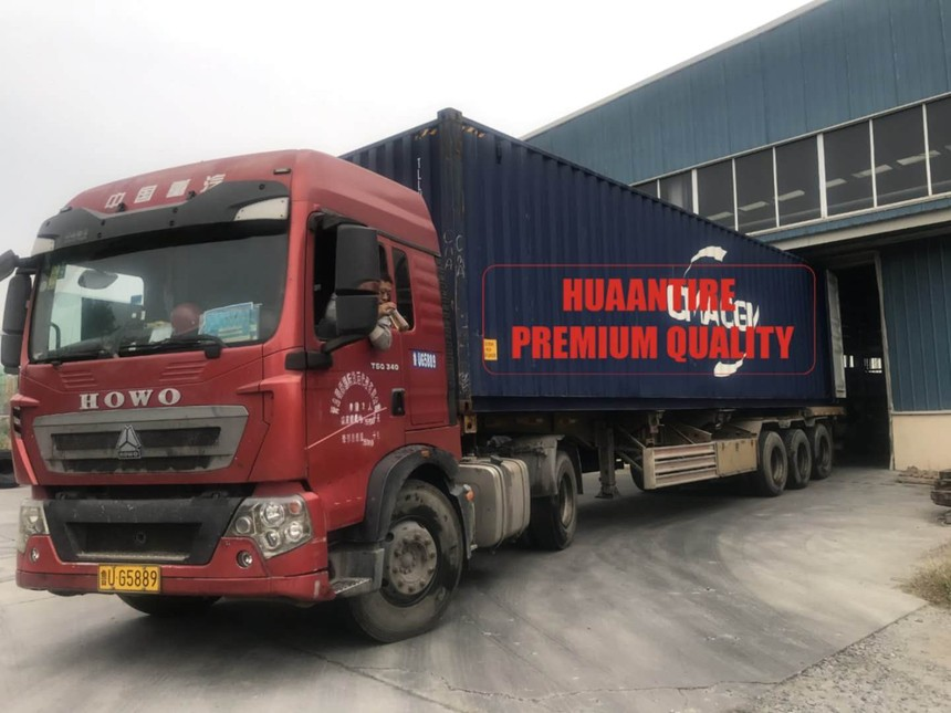Huaan Tires are sent to the global market by container