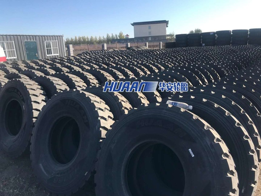 Huaan tire in mining warehouse