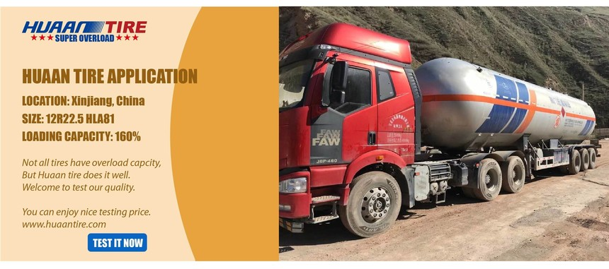 Huaan tire for oil truck