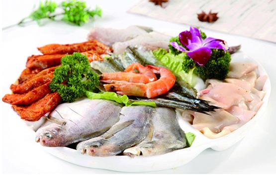 多种海鲜汇集