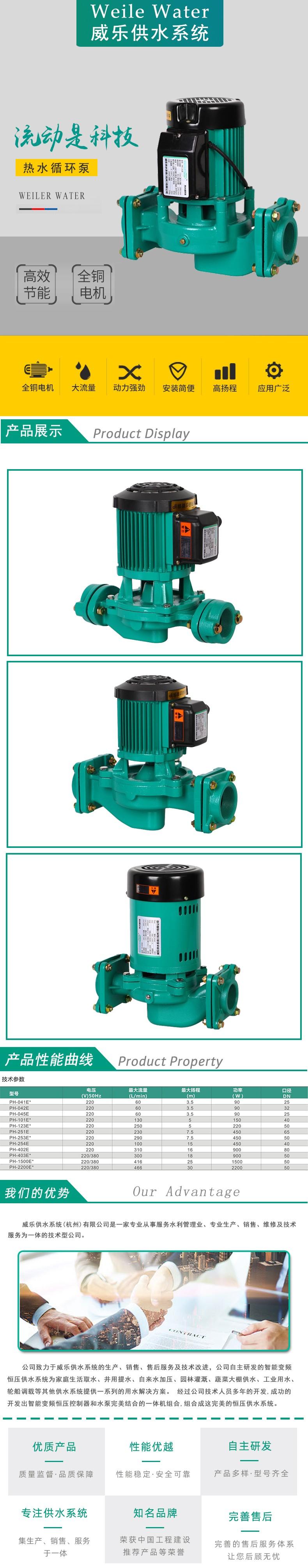 屏蔽式智能冷热水循环泵