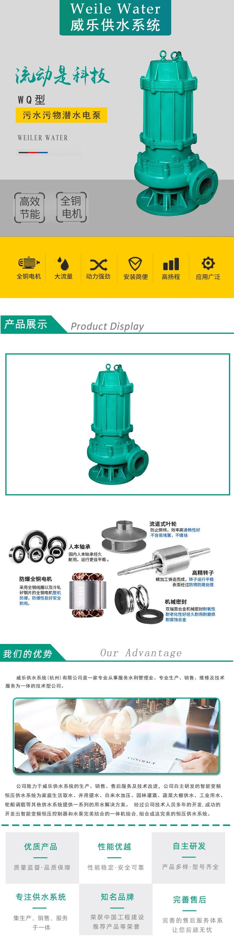 WQ型污水污物潜水电泵