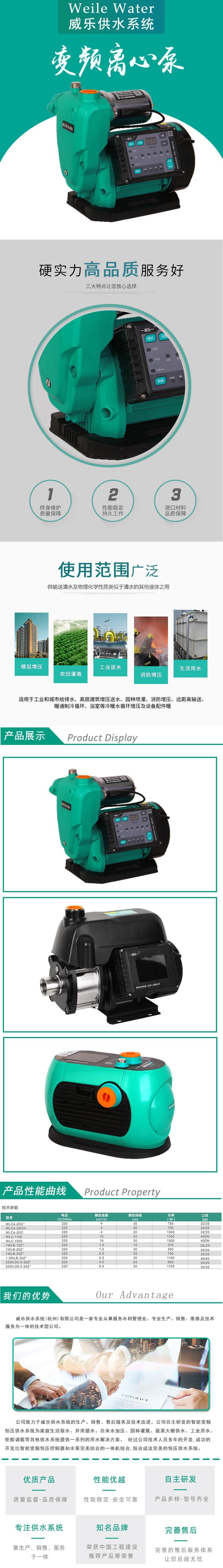 变频离心泵-全智能变频泵